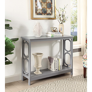 Omega Gray Console Table