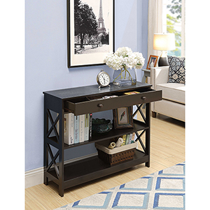 Oxford 1-Drawer Console Table, Espresso