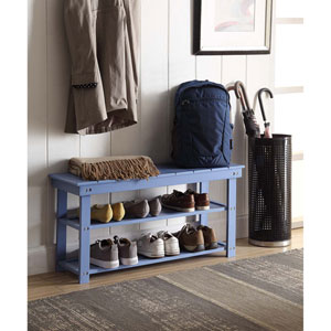 Oxford Blue Utility Mudroom Bench
