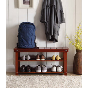 Oxford Cherry Utility Mudroom Bench