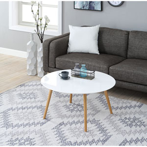 Oslo Glossy White Round Coffee Table