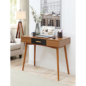 Oslo 1-Drawer Cherry Wood Desk