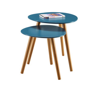 Oslo Blue Nesting End Tables