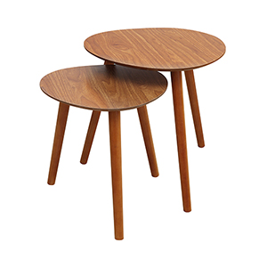 Oslo Cherry Nesting End Tables