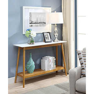 Oslo White Top Console Table