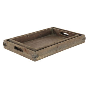 Wyoming Natural Fir Two Piece Tray Set