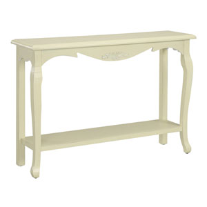 French Provence White Console Table