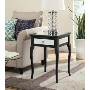 Milan Mirrored End Table