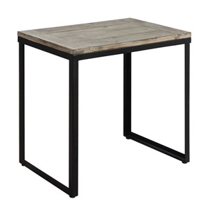 Wyoming Black Matte End Table