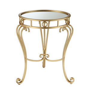 Gold Coast Julia Decorative Mirrored End Table