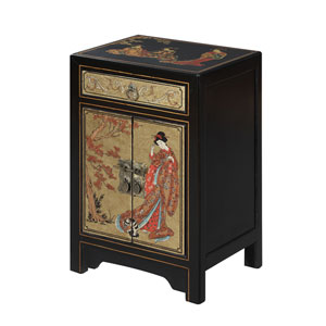 Touch of Asia 1 Drawer Cabinet End Table