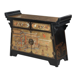 Touch of Asia Cabinet Console TV Stand