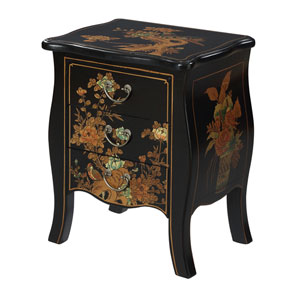Touch of Asia 3 Drawer End Table