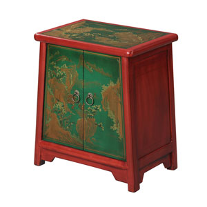 Touch of Asia Cabinet End Table