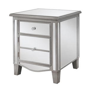 Gold Coast Park Lane Mirrored End Table