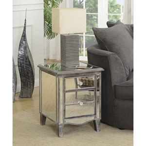 Gold Coast Park Lane Weathered Gray / Mirror End Table