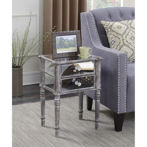 Gold Coast Mayfair Weathered Gray / Mirror End Table