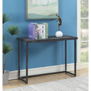 Laredo Parquet Black Console Table