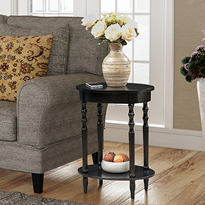 Classic Accents Black Brandi Oval End Table
