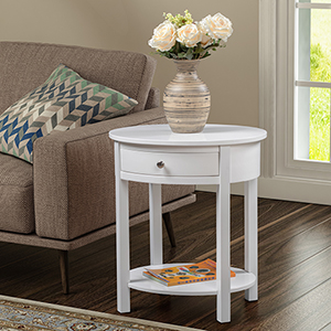 Classic Accents White Cypress End Table