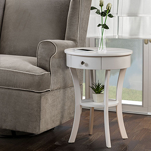 Classic Accents White Schaffer End Table