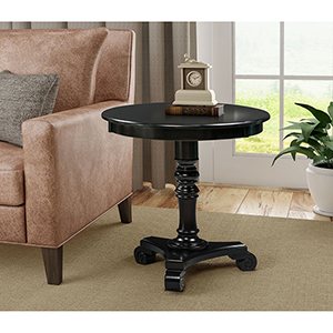 Classic Accents Black Talbot End Table