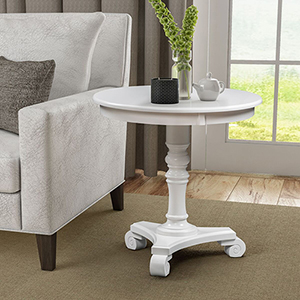 Classic Accents White Talbot End Table