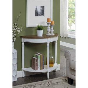 French Country Driftwood and White Entryway Table