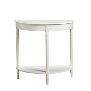 French Country White Entryway Hall Table