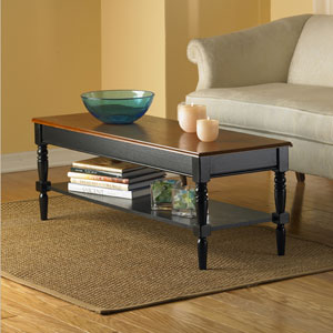 French Country Black Coffee Table