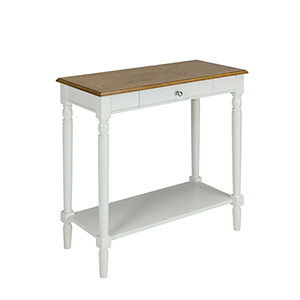 French Country Hall Table with Drawer and Shelf