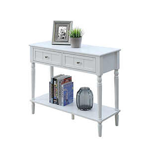 French Country Two Drawer Hall Table
