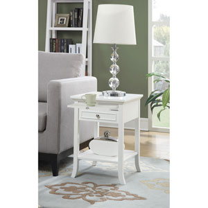 American Heritage White End Table