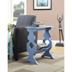 American Heritage Willow Blue End Table with Magazine Rack