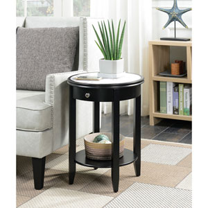 American Heritage Black Baldwin End Table with Drawer
