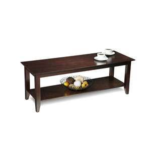 American Heritage Coffee Table with Shelf in Espresso