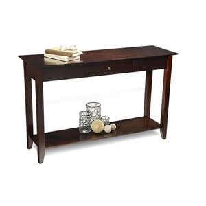 American Heritage Espresso Console Table with Drawer