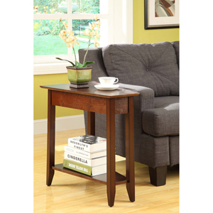 American Heritage Espresso Wedge Side and End Table