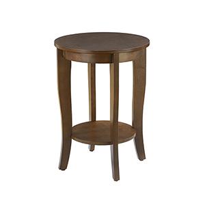American Heritage Round End Table, Espresso
