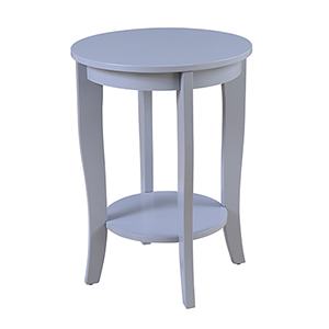 American Heritage Round End Table, Gray