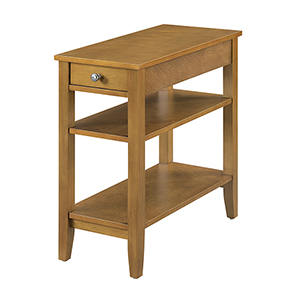 American Heritage Three Tier End Table with Drawer