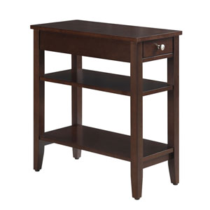 American Heritage Espresso Three Tier End Table