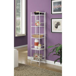5 Tier Folding Metal Shelf