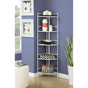 5 Tier Folding Metal Corner Shelf