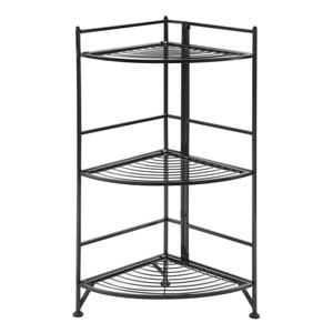 3 Tier Corner Folding Metal Corner Shelf