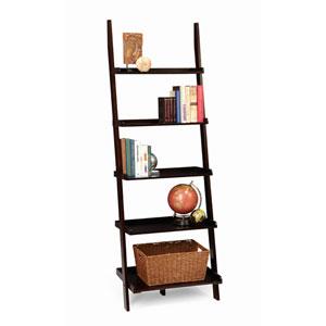 American Heritage Espresso Bookshelf Ladder