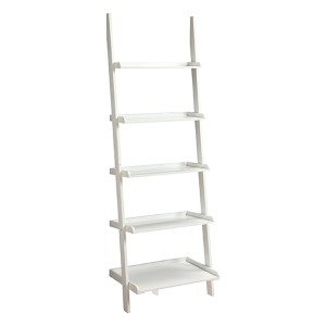 French Country White Bookshelf Ladder