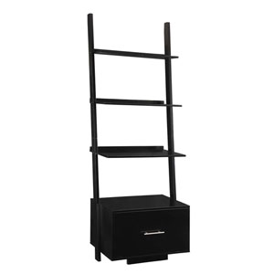 American Heritage Black Ladder Bookshelf