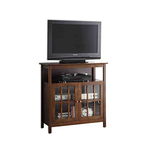 Designs2Go Espresso Big Sur Highboy TV Stand
