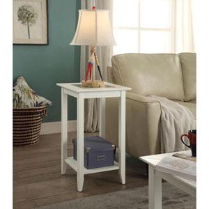 Carmel White End Table